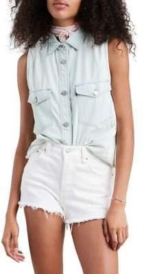 Levi's Sleeveless Maddie Denim Shirt