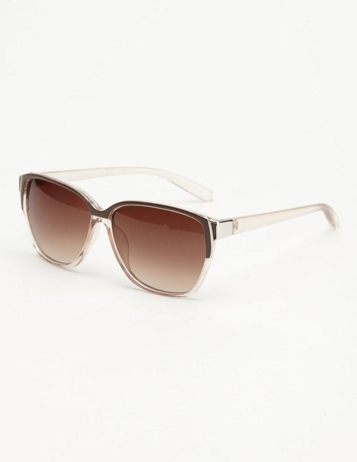 Clear Mauve Frame Sunglasses