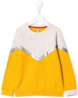 tMumofsix colour-block fitted sweater