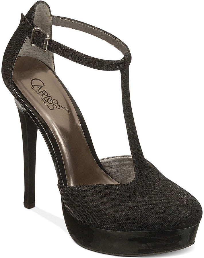 Carlos by Carlos Santana Shoes, Prince T-Strap Platform Pumps