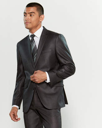 Kenneth Cole Reaction Modern Fit Windowpane Flex Suit Jacket