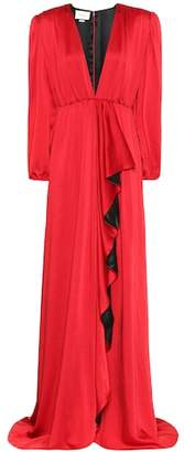Gucci Hammered satin gown
