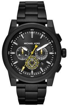 Michael Kors Grayson IP Stainless Steel Bracelet Chronograph Watch