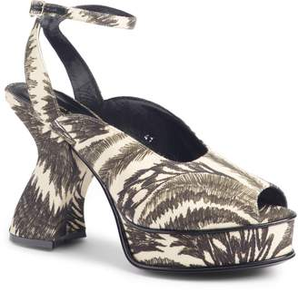 Dries Van Noten Wave Heel Platform Sandal