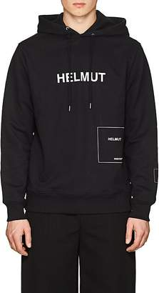 Helmut Lang Seen By Shayne Oliver Men's Logo Cotton-Blend Terry Hoodie