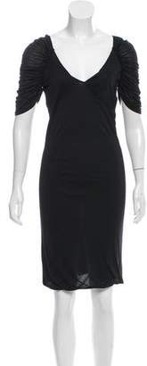 Yigal Azrouel Ruched-Accented Knee-Length Dress