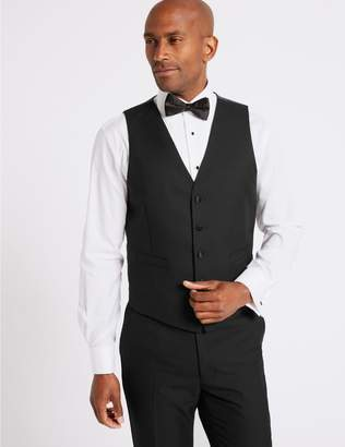 Marks and Spencer Black Slim Fit Dinner Waistcoat