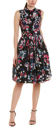 French Connection Floral Mock Neck Dress