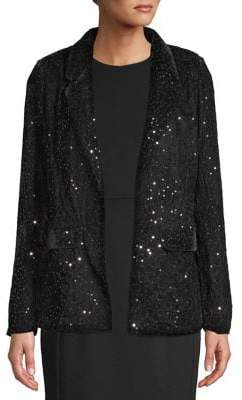 Miss Selfridge Sequin Velvet Blazer