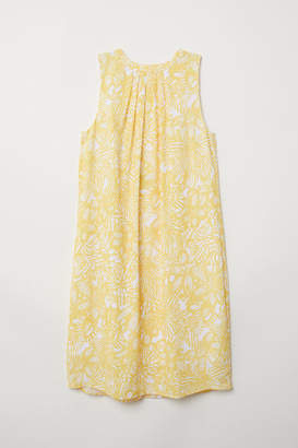 H&M Creped Dress - Yellow