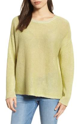 Eileen Fisher Boxy Organic Linen Sweater