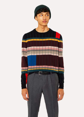 Paul Smith Anni Albers x Men's Geometric Stripe Cashmere Sweater