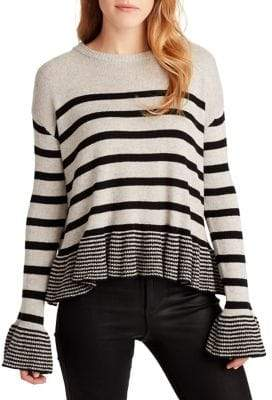 Ella Moss Hayden Flutter Striped Sweater