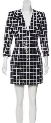 Balmain Sequined Structured Dress