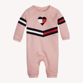 Tommy Hilfiger Stripe Print Cotton Footless Bodysuit