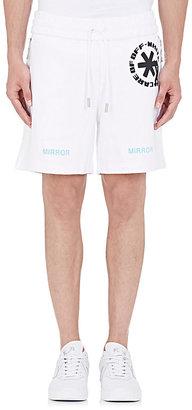 Off-White c/o Virgil Abloh Men's Printed Fleece Shorts $255 thestylecure.com