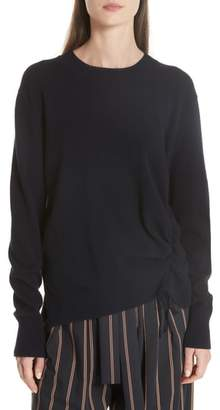 Vince Side Cinch Cashmere Crewneck Sweater