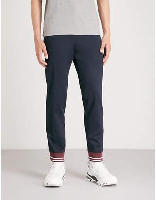 Kenzo Striped-cuff stretch-cotton trousers