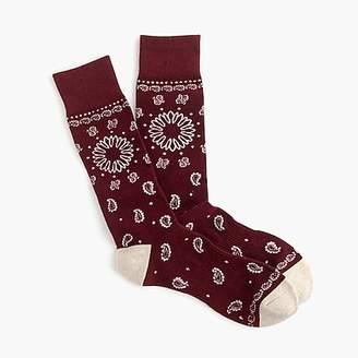 J.Crew Bandana print padded footbed socks