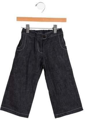 Caramel Baby & Child Girls' Wide-Leg Jeans