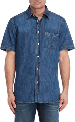 Love Moschino Embossed Logo Denim Shirt