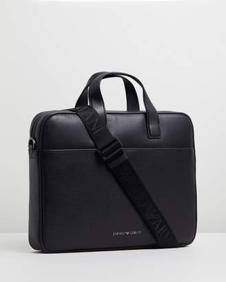 Emporio Armani Vitello Bottalato Briefcase