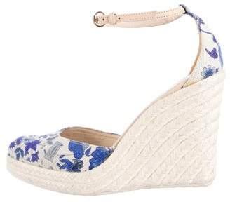 Gucci Floral Espadrille Wedges