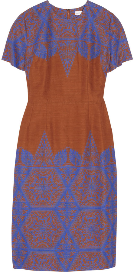 Jonathan Saunders Serle printed cotton-blend dress