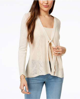 Style&Co. Style & Co Petite Tie-Front Cardigan, Created for Macy's