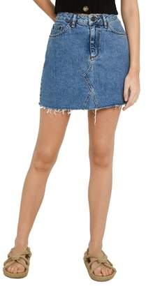 BDG Urban Outfitters Denim Raw Edge Miniskirt