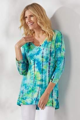 Soft Surroundings Tropical Tie-Dye Tunic