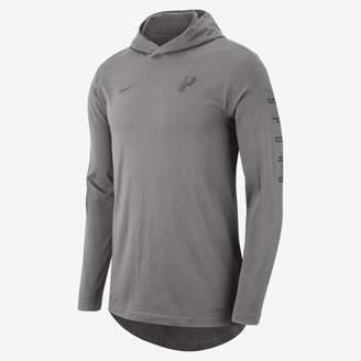 Nike San Antonio Spurs Men's Hooded Long-Sleeve NBA T-Shirt