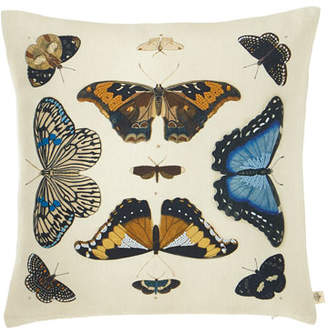 John Derian Mirrored Butterflies Decorative Pillow