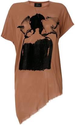 Lost & Found Ria Dunn asymmetric hem T-shirt