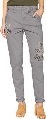 Jag Jeans Women's Dana Chino Pant with Embroidery
