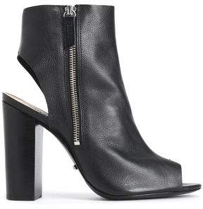 Schutz Pebbled-Leather Ankle Boots