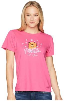 Life is Good Wildflower Bear Crusher Tee Women's T Shirt