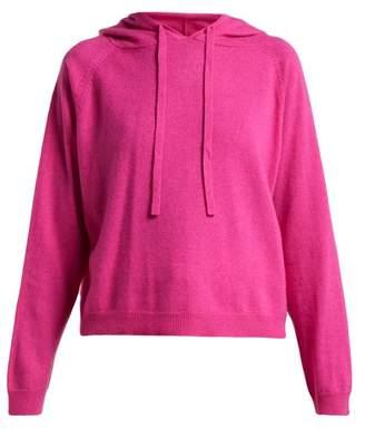Allude - Wool Blend Hooded Sweatshirt - Womens - Fuchsia