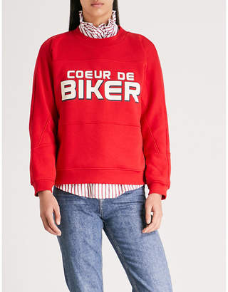 Claudie Pierlot Tourny cotton-jersey sweatshirt