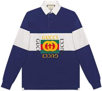 Gucci Oversize cotton polo with logo