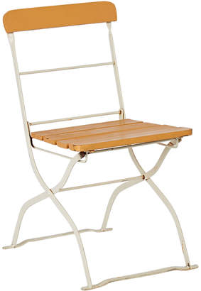 Rejuvenation Folding Steel and Wood Bistro Patio Chair