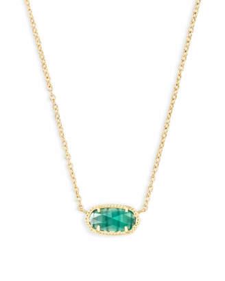 Kendra Scott Elisa Gold Pendant Necklace in Sand Drusy