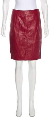 Rachel Roy Leather Knee-Length Skirt