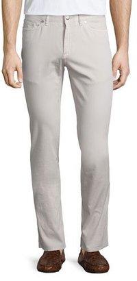 Peter Millar Five-Pocket Stretch-Cotton Pants, Ivory $198 thestylecure.com