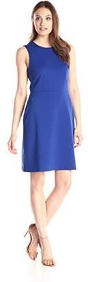 Lark & Ro Women's Sleeveless Ponte A-Line Dress