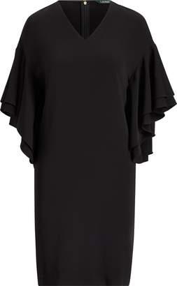 Ralph Lauren Flutter-Sleeve Shift Dress