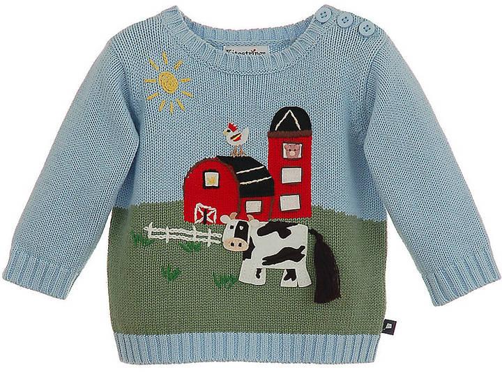 Hartstrings Newborn Boys 0-9 Months Farm Animal Sweater
