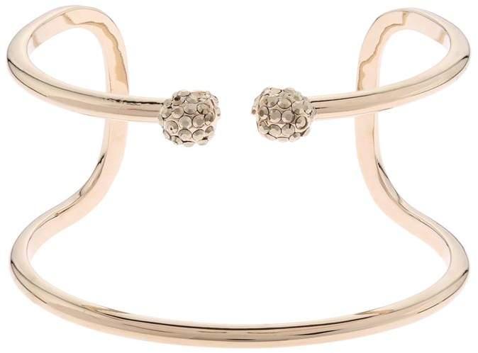 Crystal Double Thin Twin Skull Bracelet