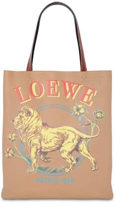 Loewe Lion Leather Vertical Tote Bag
