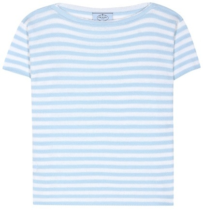 prada Prada Striped Cashmere Top